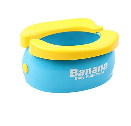 Bambino Vasino da Viaggio Portatile Pieghevole Potty con 20 Pezzi Fodere per WC Monouso, Vasino da Allenamento Banana WC Comodo Potty Chair per Bambini Ragazze Ragazzi