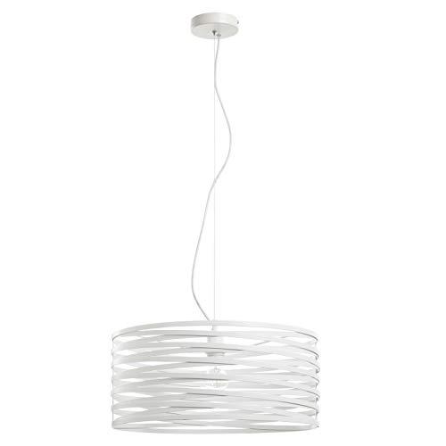 EXO Lighting - Lámpara de techo circular SIRA blanca E27 interior IP20. Colgante blanco moderno para salón, comedor y hoteles.