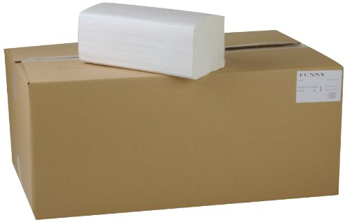 Funny Papierhandtuch, ZZ/V-Falz, 25 x 23 cm, 1lag, hochweiß, 5000 Blatt, 1er Pack (1 x 1 Stück)