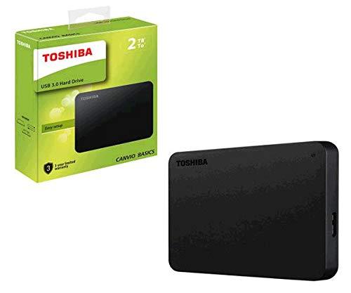 SSO) Disco Duro Externo para Toshiba CANVIO Basics / 2TB / 2.5 / USB 3.0 / Negro Mate