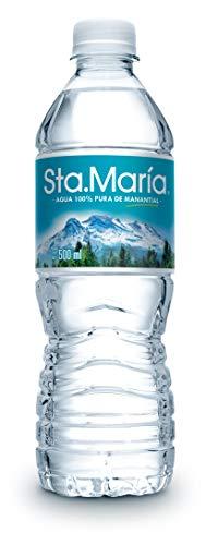 Agua Sta. María 100% pura de manantial, Paquete de 24 botellas de 500ml c/u