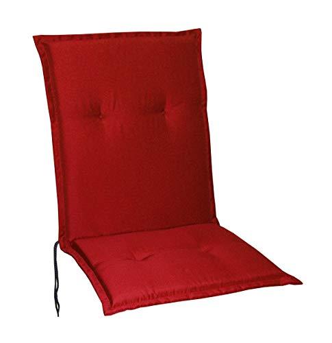 Schwar Textilien Gartenstuhlauflagen Stuhlauflagen Sitzauflagen Auflagen Niedriglehner 5 Farben (Rot)