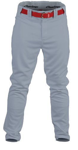 RAWLINGS Jugend Premium Baseball/Softball semi-Relaxed Passform Paspel Hose, Jungen Mädchen, YPRO150-BG-91, blau/grau, XL
