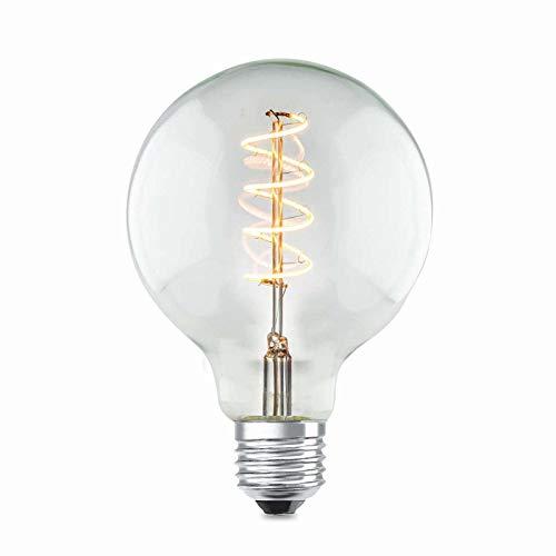 Gloeilamp vintage LED-lamp E27 met 4 watt glas helder lamp nostalgie (warm wit, dimbaar, gloeilamp, retro, 13,5 x 9,5 cm)