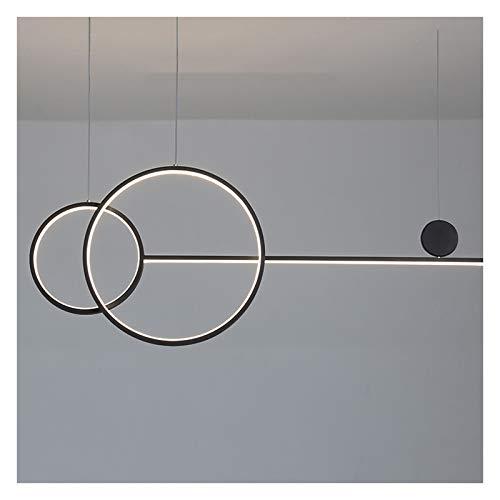 Lámpara de araña, LED regulable, moderna y minimalista, mesa de comedor y oficina de bar, lámpara de diseño de rayas largas (color: B)