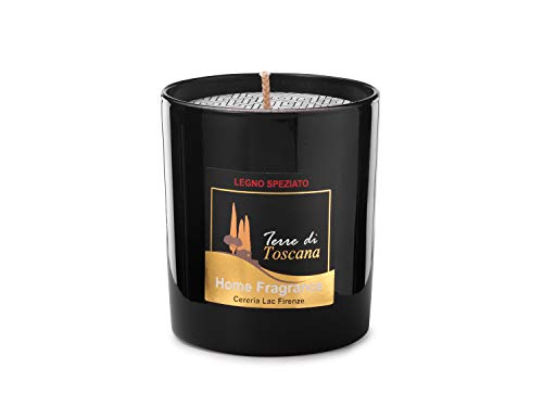 Home Deco London Signature Scented Candle Black Glass Soy Wax in Gift Box Package for Air Clean and Body Relaxation 30 hours Burn Fine Ideal for Anniversary, Birthday (Spice Wood)