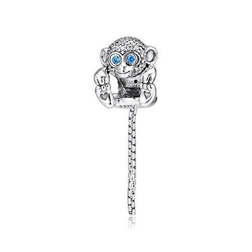Diy Sparkling Monkey Charm 925 Sterling Silver Animal Beads For Jewelry Making For Women Men Gift Fit Charms Bracelet