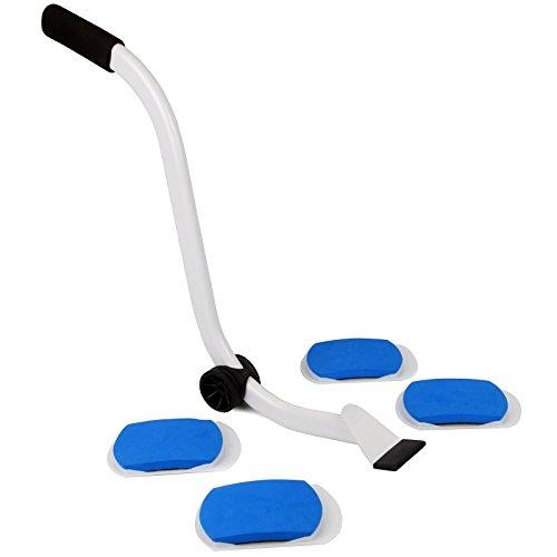 Pukkr Moving & Lifting Werkzeug | Schwerer Hebehebel & 4 Glide Pads | Für Teppichböden & Hartböden | Einfache Bewegung großer Möbel