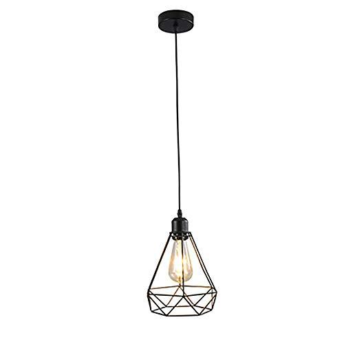 SLRMKK Moderner Kronleuchter, Schwarze Deckenlampe, Schmiedeeiserne LED-Beleuchtung Mit Einem Kopf, Einfache Hängende Deko-Innenbeleuchtung Für Das Schlafzimmer, Das Arbeitszimmer