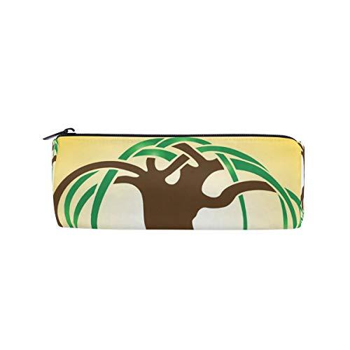 DEZIRO Tasche mit abstraktem Baum Logo, für Studenten, Schreibwaren, mit Reißverschluss