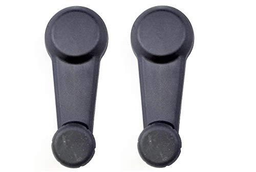 PT Auto Warehouse GM-1561A-P - Inside Interior Inner Window Crank Handle, Black - Left/Right Pair