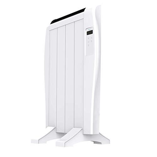 Cecotec Radiador Eléctrico Bajo Consumo Ready Warm 800 Thermal Connected 4 Elementos, 600 W, De pared o pie, 3 Modos, Temporizador, Mando a Distancia, Pantalla LCD, Control por Wifi, Ultrafino