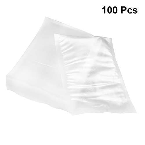 Yarnow Bolsas de Sellado Al Vacío de 100 Piezas para El Protector de Alimentos Sellar Una Bolsa de Protección de Frescura Weston Gamesaver Transparente 12X17 Cm