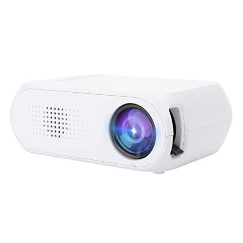 OHHG Caja Pantalla Mini proyector, Mini proyector, Proyector LED Full HD 1080P, Proyector Cine casa portátil HDMI, VGA, USB, Interfaces Ver televisión Videojuegos, Mejor Regalo Deportes
