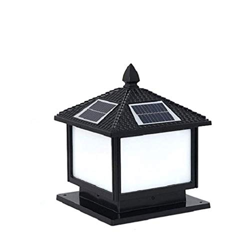 NXYJD LED Column Headlight, Solar Light Garden Landscape Garden Light Street Light Waterproof Fence Door Column Headlight Energy Saving
