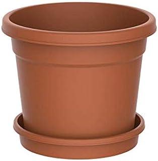 Cosmoplast 8 Inch Round Flower Pot for Plants - Terracotta
