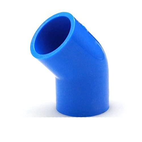 FSALFWUYIHDSF Accesorios de tubería de suministro de agua de PVC Blue Union End Cap Válvula de bola Codo Tee 5 6 vías Conector plástico Junta Irrigación Agua Partes 20mm ID,Codo de 45 grados