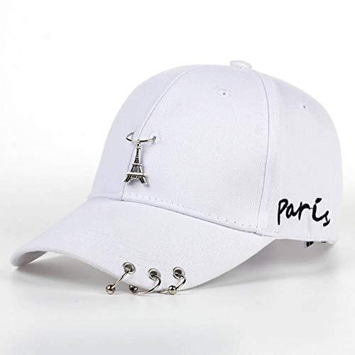 SYQY Neue Heiße Eisenturm Gesicht Anhänger Hut Unisex Eisen Ring Hüte Einstellbare Baseballmütze Männer Frauen Casual Homme,C3