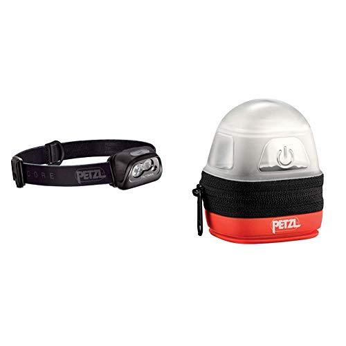 Petzl E99ADA Literna Tactikka Core + -Noctilight, Negro/Naranja