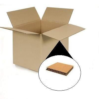 Herso - Pack de 20 Cajas de Cartón 400 x 290 x 220 mm en Canal DOBLE Alta Calidad Reforzado - Cajas mudanza, transporte, almacenaje: Amazon.es: Oficina y papelería