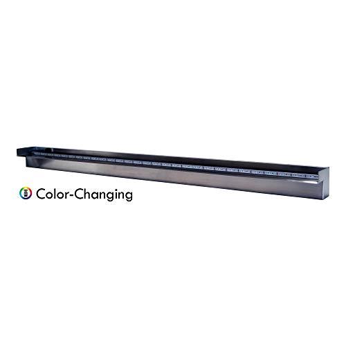 "Patriot Steel Elegance STE60CC Color Changing 60"" Lighted Stainless Steel Spillway"