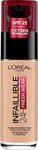L Oréal Paris Fondotinta Liquido Coprente Infaillible Lunga Tenuta 24H, Formula Waterproof Idratante, 120 Vanille