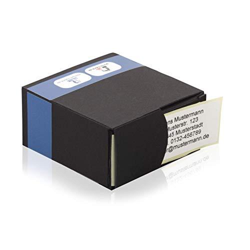Personalisierte Adressaufkleber - Adressetiketten im Spenderkarton (250 Stück 60x30 mm, Haftpapier, matt), auch mehr-farbig bedruckt, Namensaufkleber mit Wunschdruck