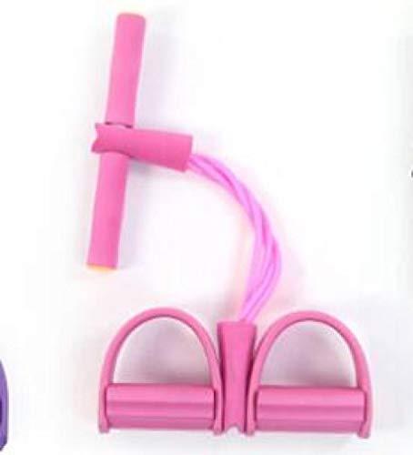 Anwasd7 Bauchtrainersit-Ups Vierpfeifenpedal Pull Horse Yoga FitnessgeräTe-Pink