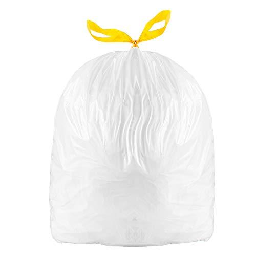 BILIEASY 60 bolsas de basura universales con cordón de 3 a 5 l de 35 x 35 cm, grandes bolsas de basura sin perfume (60 unidades)