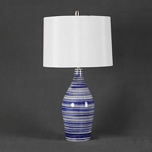 Tafellamp van keramiek met blauwe schat voor woonkamer, slaapkamer, detailhandel, decoratie voor bruiloft, tafellamp