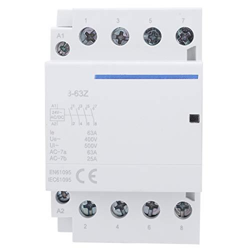 Walfront BCH8‑63 Contactor AC/DC Voltaje 4NO 63A 400V AC/DC Contactor de Voltaje...