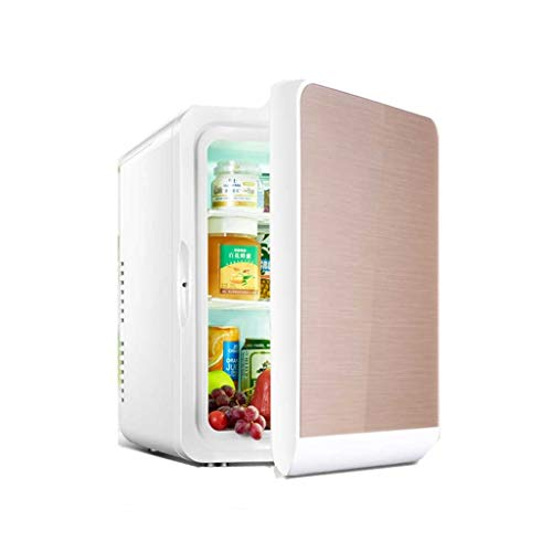 HSJ WYQ- Mini refrigerador del Coche 22L Nevera cosmética de Mama máscara Leche Nevera Estudiante Dormitorio Principal refrigeración (Color : Gold b, Size : 22L)