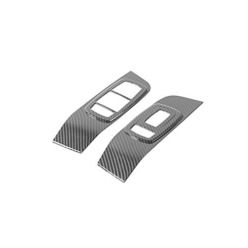 2pcs interior Molduras for Challenger 2015+ ventana de coche Interruptor de elevación de la cubierta Panel de control pegatinas en forma for el Dodge Challenger 2015+ ( Color : Carbon fiber grain )