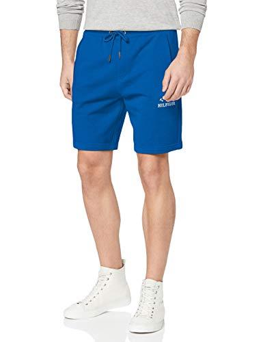 Tommy Hilfiger Basic Embroidered Sweatshort Jersey de Deporte, Azul, X-Small (Talla del Fabricante:) para Hombre