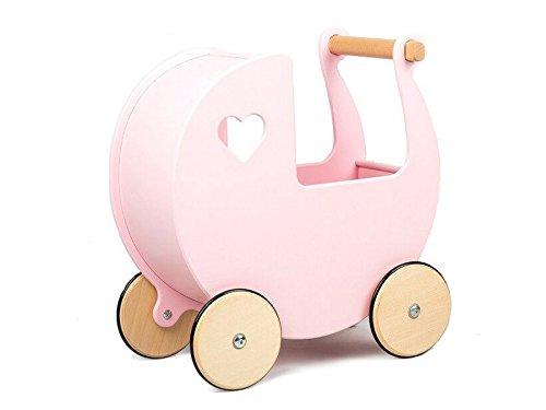Moover MOOV-880220 houten poppenwagen, roze