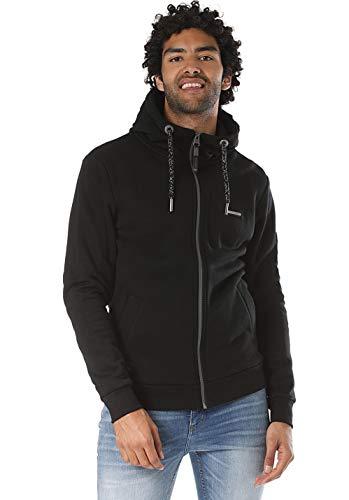 Ragwear Zipper Herren NATE Zip 1922-30023 Schwarz Black 1010, Größe:M