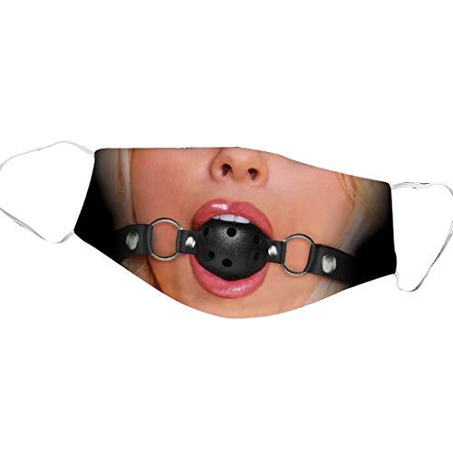 Halloween Mundschutz Waschbar mit Motiv Lustige Esel Gorilla Bandana Ugly Tie Animal 3D Multifunktionstuch Herren Damen Mund und Nasenschutz Wiederverwendbar Staubdicht Motorrad Halstuch (4)