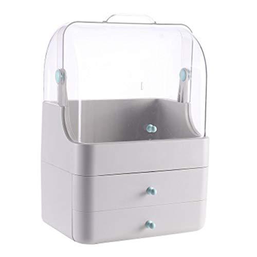 Nvshiyk Maquillage des boîtes de Rangement Boîtier à Rabat Anti-poussière de la boîte de Rangement cosmétique avec boîte de tri de Type tiroir pour Meuble-lavabo et comptoir