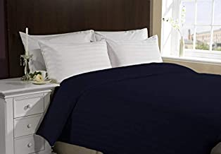 """AVI Set of 2 Bedsheets (1 Flat Bedsheet(60""""x90"""") and 1 Fitted Bedsheet(36"""" x78') with 2 Pillow Covers(17""""X27"""")) - Dark Blue"""