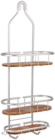 Tia Selling rankings Large Over the Showerhead Shower Shelv Rustproof Teak Max 89% OFF Caddy