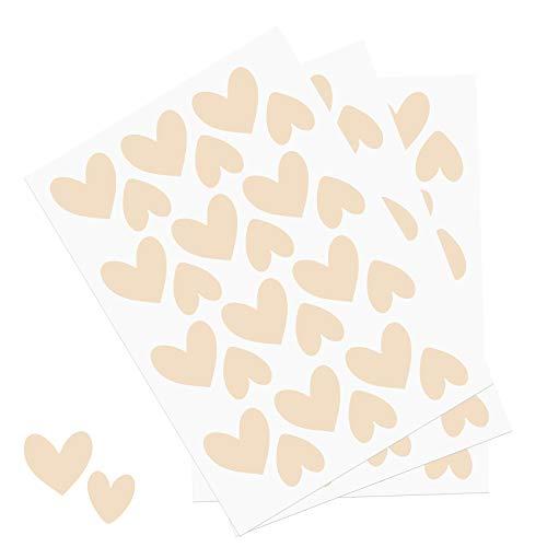 Y014 Herzen Set Wandtattoo Aufkleber Herz Dekor Sticker für Kinderzimmer Babyzimmer (Beige)