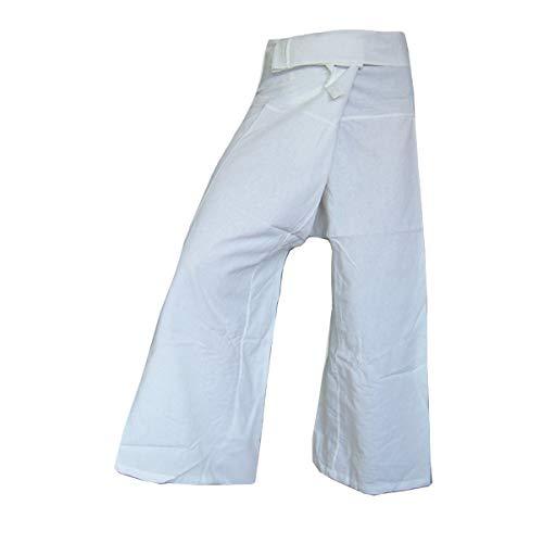 PANASIAM Fisherman Pants Unicolor, White XL