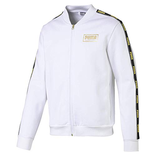PUMA Men's Holiday Pack Bomber Jacket, White, M
