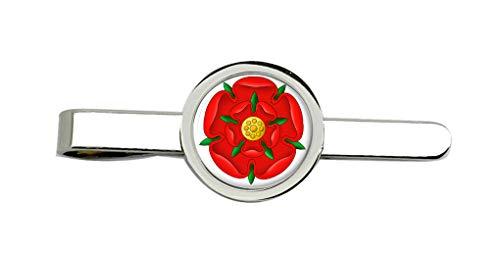 Family Crests Rot Rose of Lancaster Clip-Krawatte Nadel