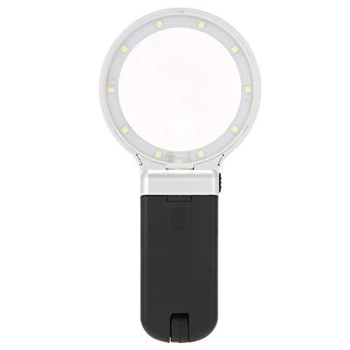 Lupa LED, lámpara LED de lupa firme de alto brillo, plegable para...