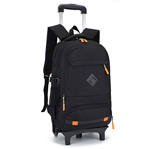 Kids Rolling Backpack,School Backpack for Boys,School Bags for Boys Childrens Luggage on Wheels Rolling with Wheels Kids Trolley Rucksack Student Bags-A-2wheel