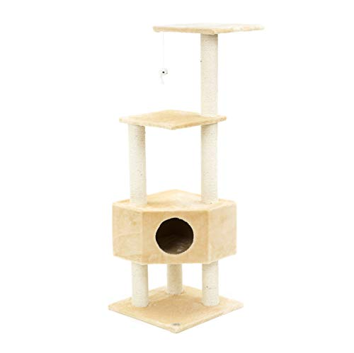 ESU Pets CAT Tree 47 Scratcher Play House Condo Furniture Bed Post Pet