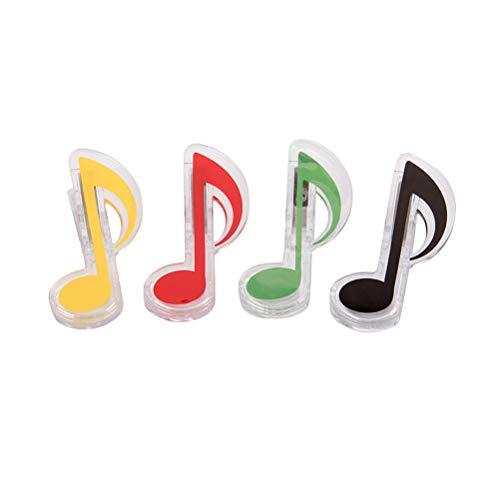 SUPVOX 4 STÜCK Musik Symbol Clip Kunststoff Dekorative Schreibwaren Ordner Clip Fotos Tickets Notizen Brief Büroklammer