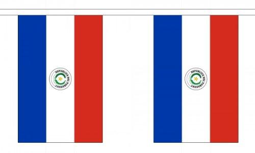 Flag Co 9 metres 30 (22,9 x 15,2 cm) Drapeau Paraguay Paraguayen 100% Polyester Matériau fanions Décoration de fête Idéal pour Street House Pubs Clubs Les écoles