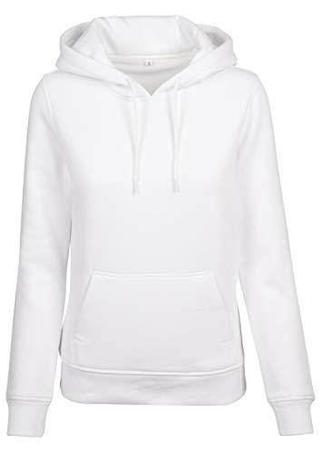 Build Your Brand Damen Ladies Heavy Hoody Jacke, per pack Weiß (White 00220), Medium (Herstellergröße: M)